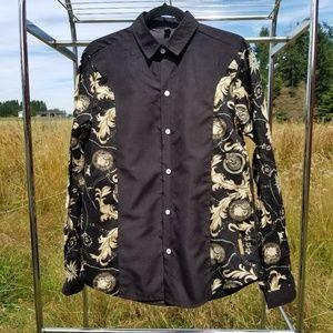 XXL Mymstorm blouse black and tan